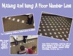 How to make a floor sized number line and a freebie!!!
