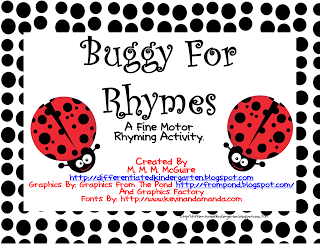 How about a creepy crawly rhyming freebie . . .