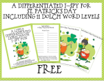 A Differentiated I-Spy Leprechaun Freebie . . .