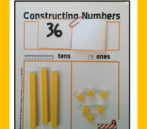 Constructing Numbers  . . . An Independent Place Value Freebie!