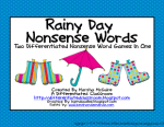 TWO Differentiated Nonsense Word Games In One for FREE!!!!!!!!