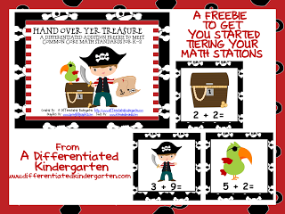 Differentiated Math Stations . . . and a Freebie