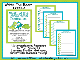 kinesthetic dinosaur write the room differentiated