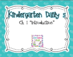 Kindergarten Daily 5 Book Study:  Chapter One