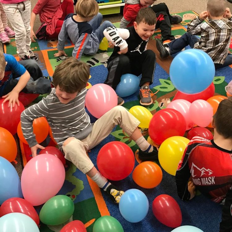Pop 100 hundred balloons on the100th day of school? Yeahellip