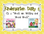 Differentiated Word Work and A Freebie-Kinder Daily 5 Book Study Chapter 6