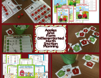 Differentiated Math Stations for Apple-Farm Fun