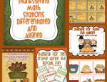 Planning Differentiated Math Stations For Thanksgiving