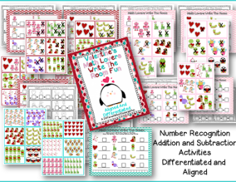 Love to Plan Differentiated and Aligned Valentine's Math  Stations