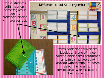 using color to differentiate in kindergarten