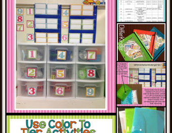 Using Color To Help You Tier Differentiated Activities.