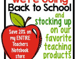 Teachers Notebook Is Having a Sale YEEE HAW!!! And so am I!
