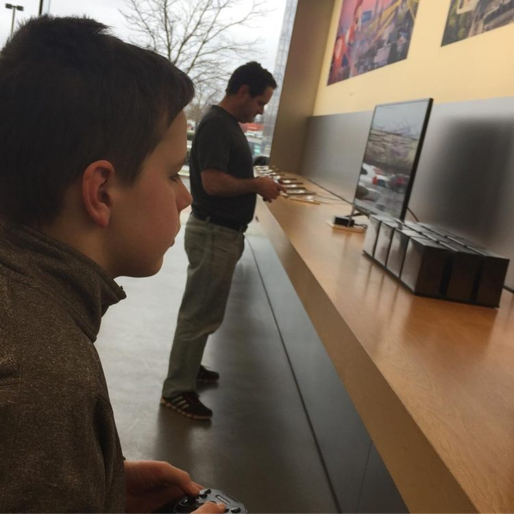 Taking your son and husband to the Apple Store withhellip