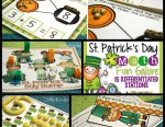 St. Patrick's Day Math Stations Differentiated Plans and a FREEBIE!