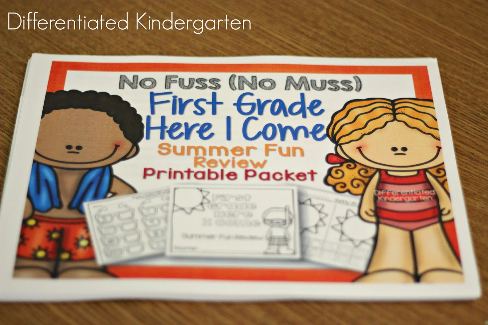 First Grade Here I Come: Summer Review Fun - Differentiated Kindergarten