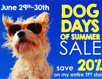 Dog Days of Summer Sale on all Differentiated Kinder Items