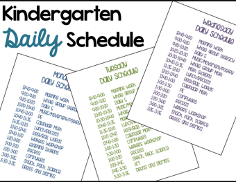 A Differentiated Kindergarten's Daily Schedule
