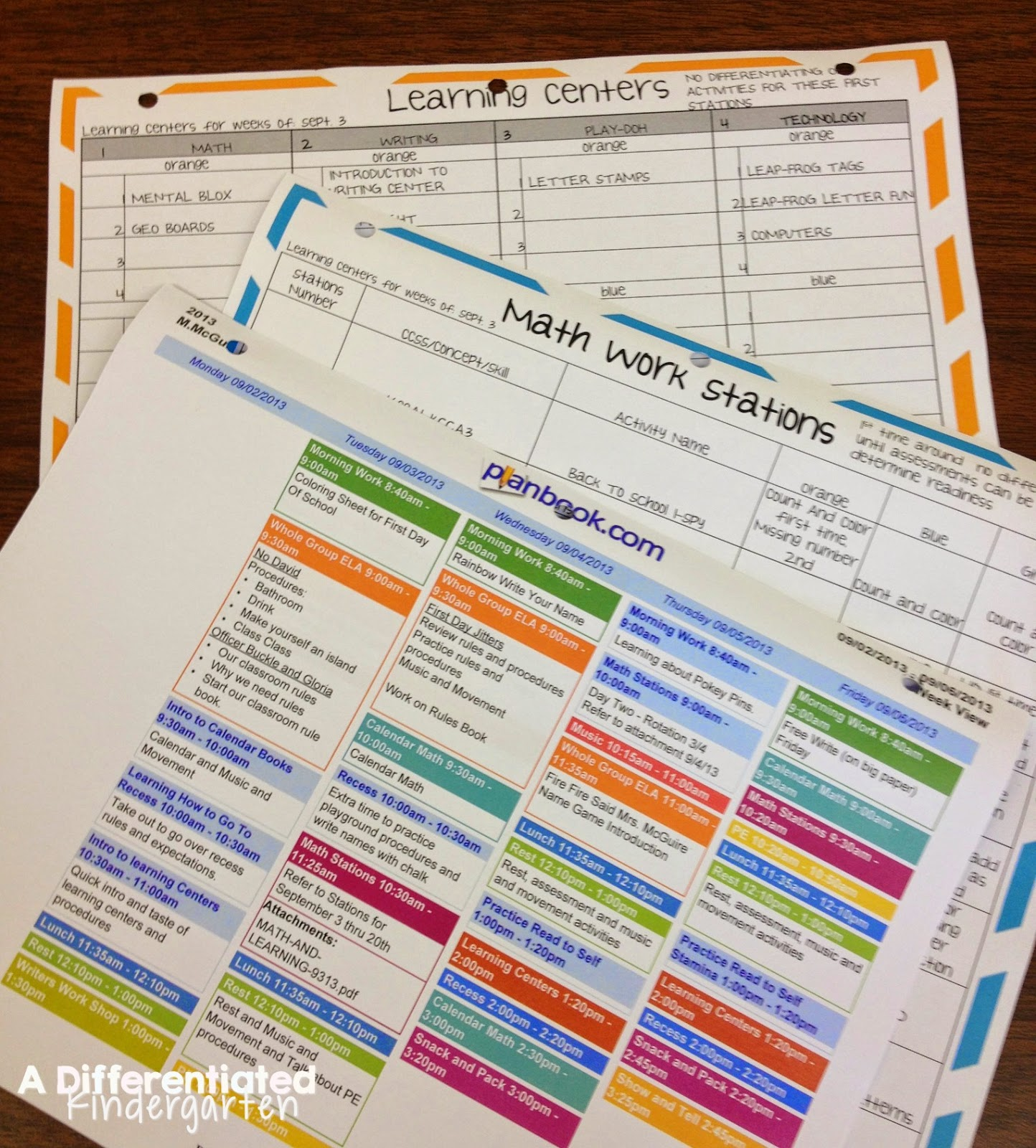 A Differentiated Kindergartens Daily Schedule Differentiated