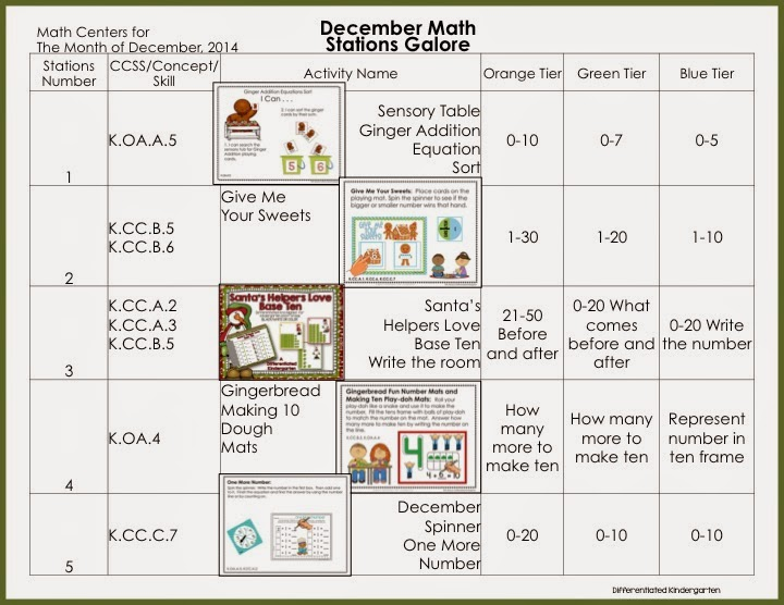 Kindergarten Calendar Math Lesson Plans : December s visual math station plans and a cyber sale