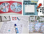 Math Spinner Activities and a Freebie!