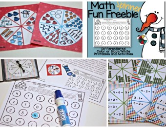 Spinning Up Math Fun and A Freebie for January.