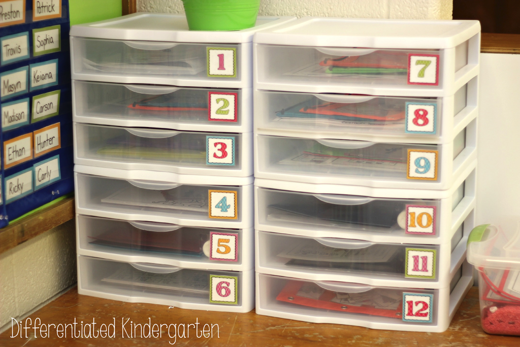Morning work set up and organizational tips and tricks.  Great for kindergarten!