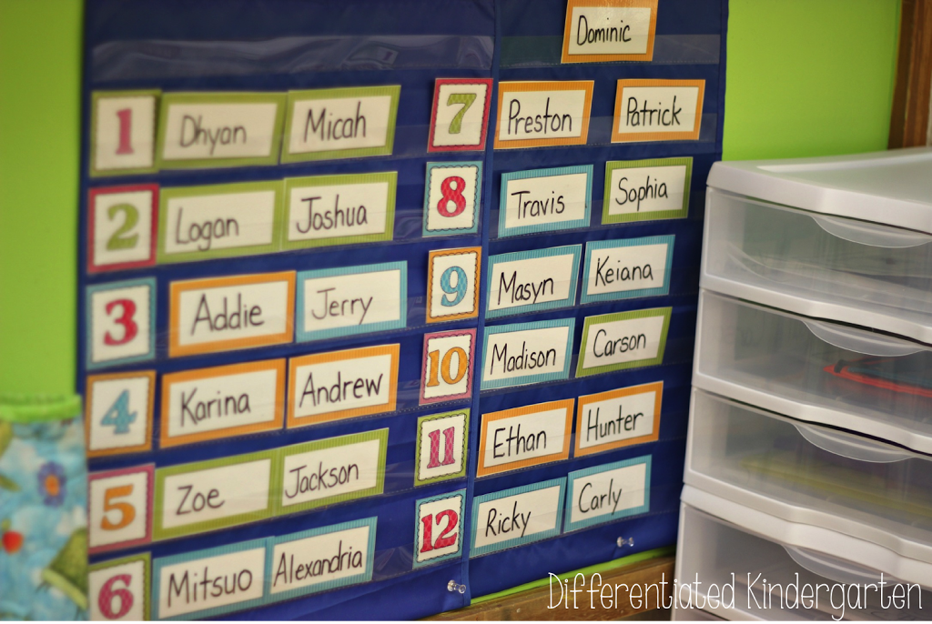 Using color to help differentiate and organize morning work in my kindergarten classroom.