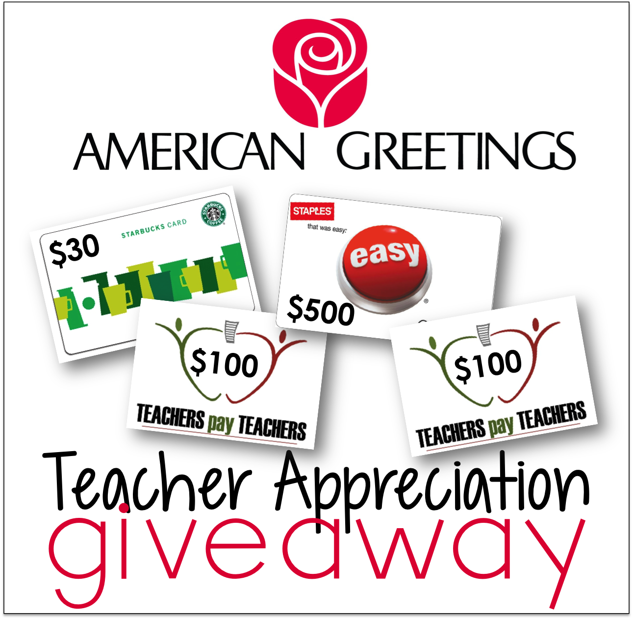 A Teacher Appreciation Giveaway From American Greetings