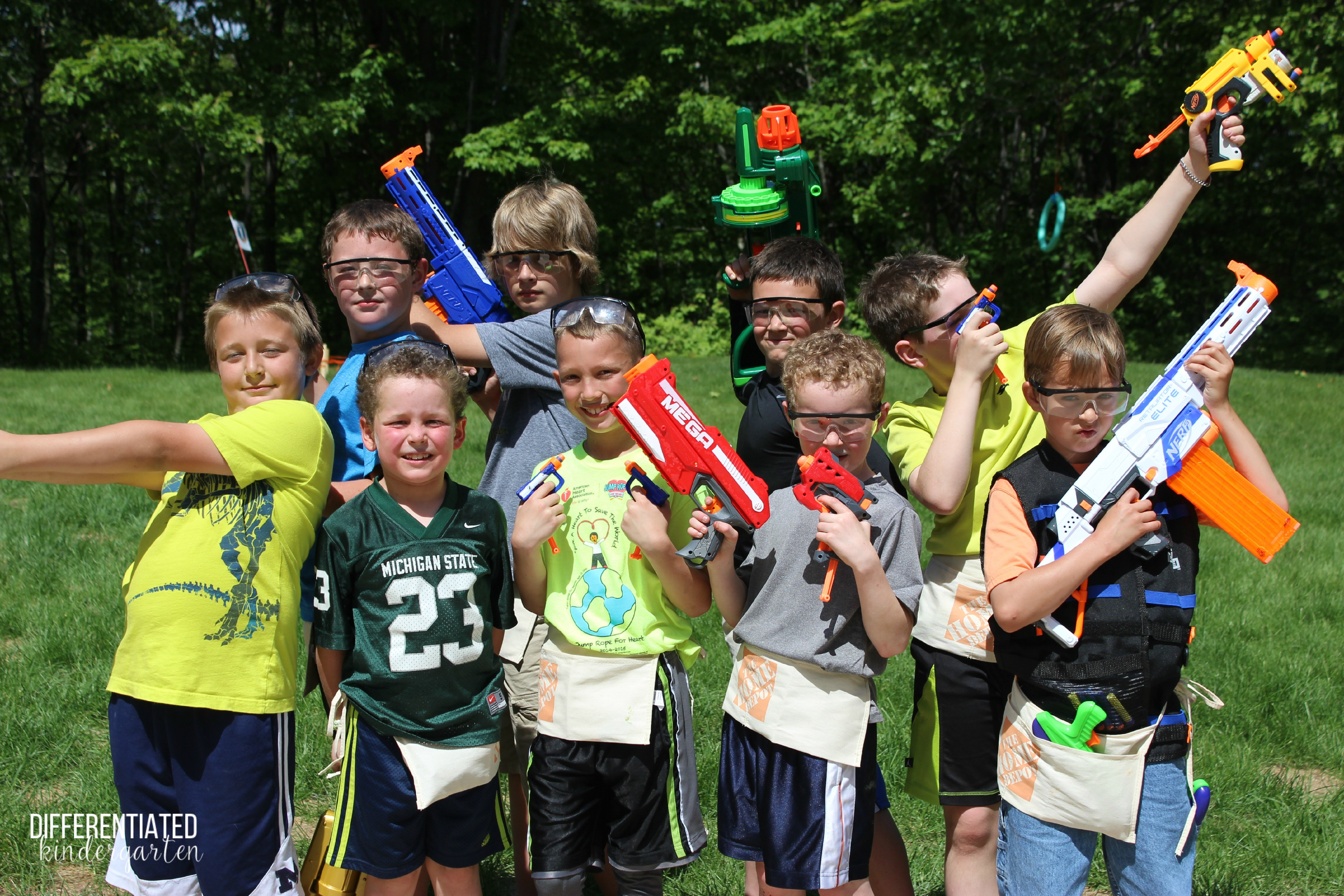 it s nerf or nothing party time differentiated kindergarten