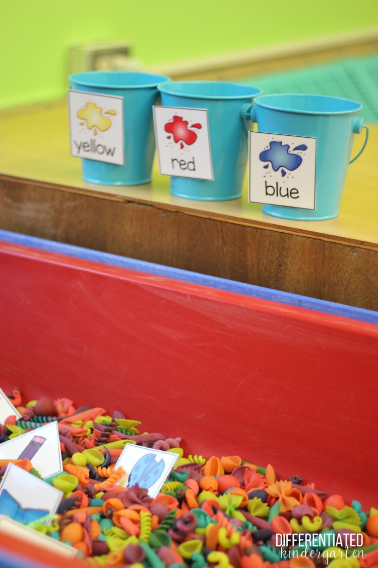 A Year of EASY Sensory Table Fillers and Activities-Kindergarten
