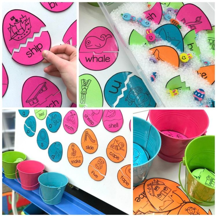 Eggcellent differentiated and selfcorrecting word work fun Freebie! Check outhellip