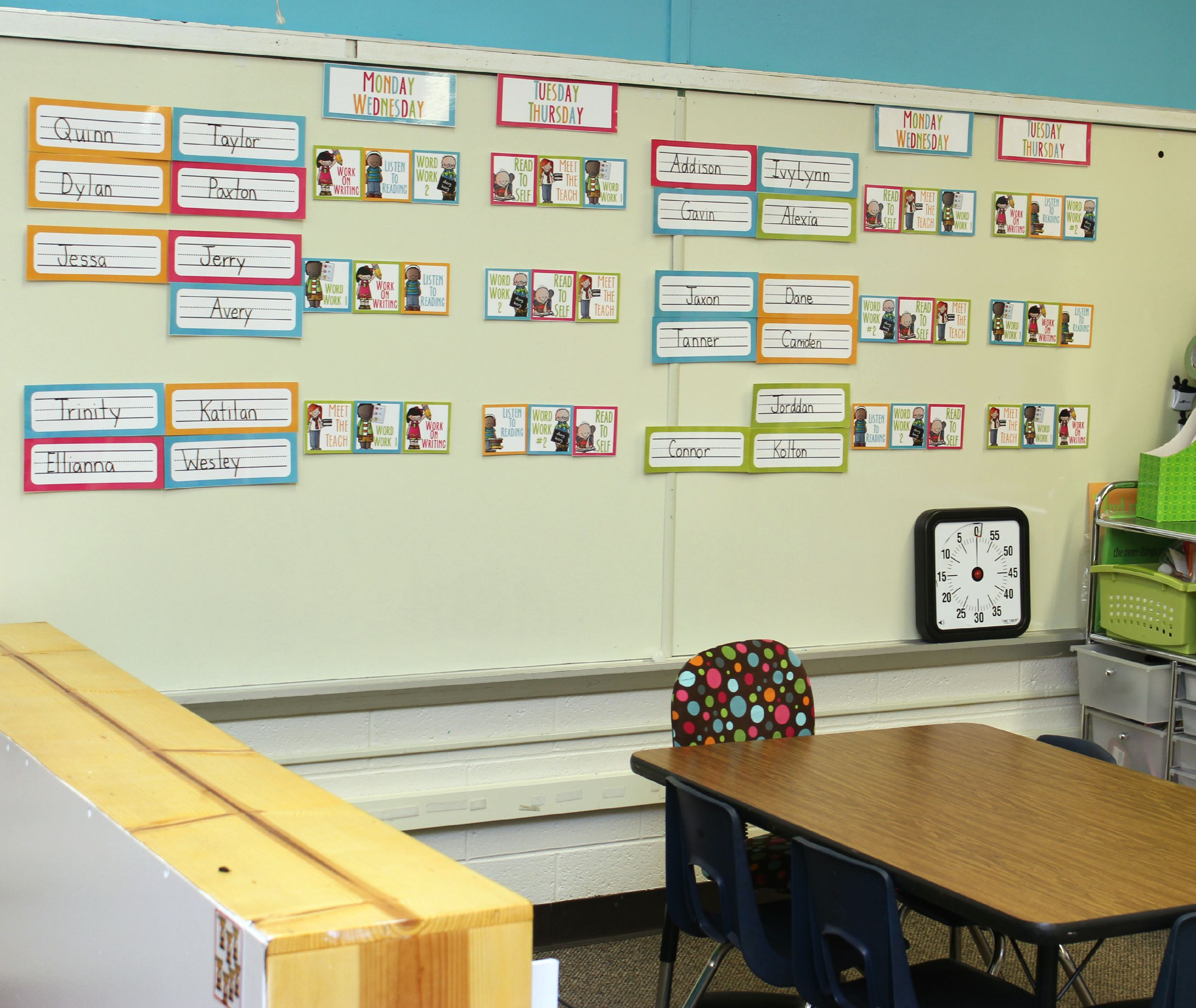 Classroom Rotation Ideas ~ The reality of daily day one in kindergarten