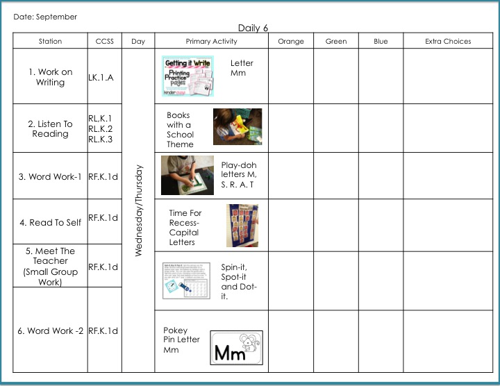 Setting Up For A Successful Year Of Daily In Kindergarten - Daily lesson plan template for kindergarten