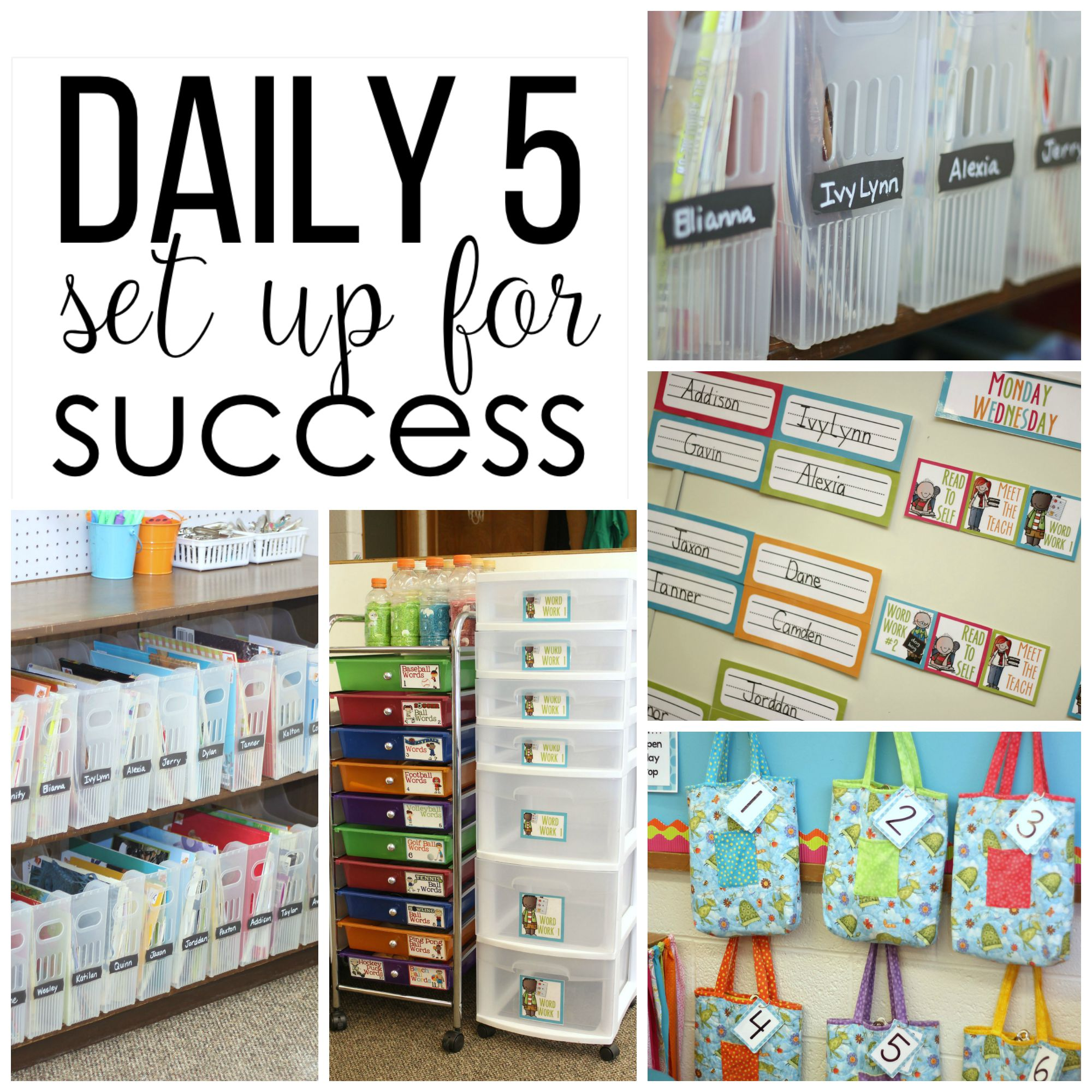 Classroom Setting Ideas ~ Setting up for a successful year of daily in