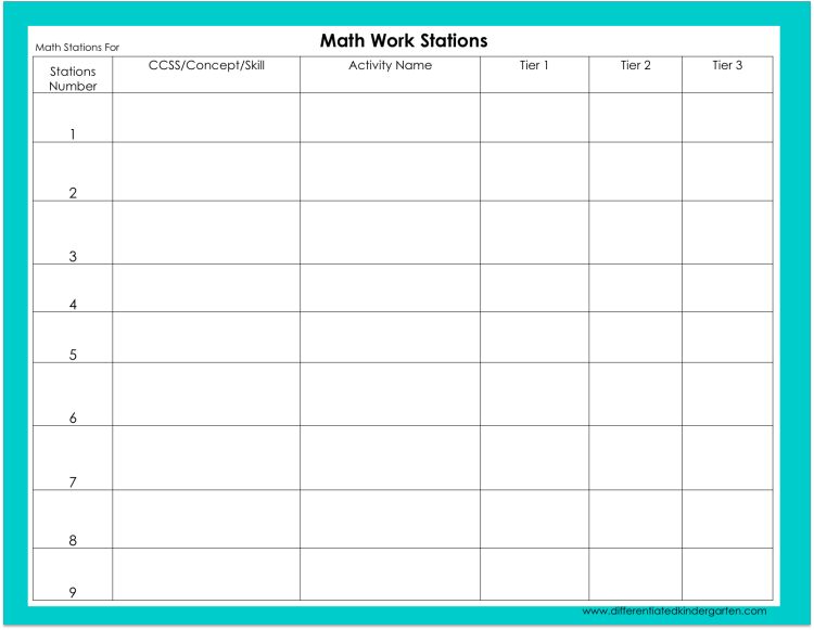 math station template picture