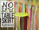 No Sew Table Skirt Tutorial