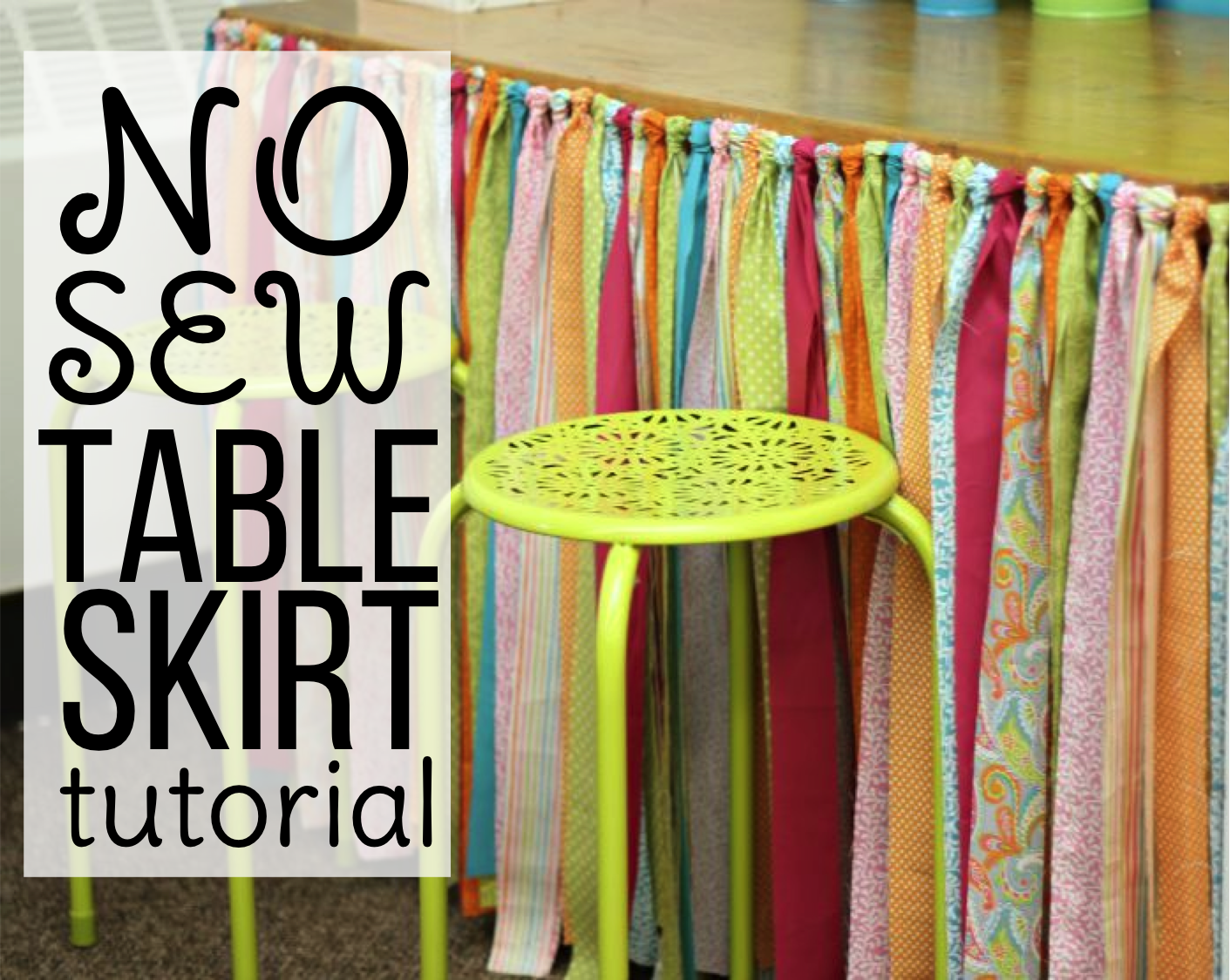 No Sew Table Skirt Tutorial Differentiated Kindergarten