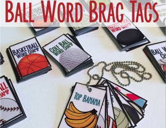 Free Brag Tags For Ball Words