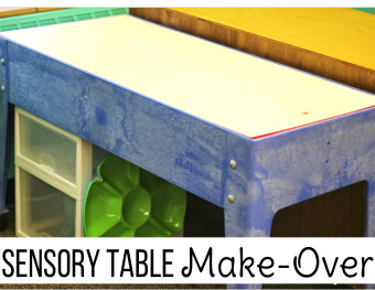 Sensory Table Make Over