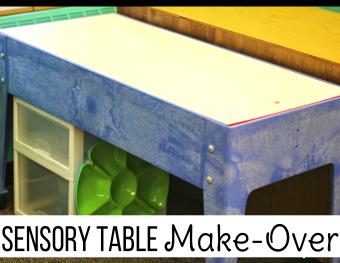 Sensory Table Make Over