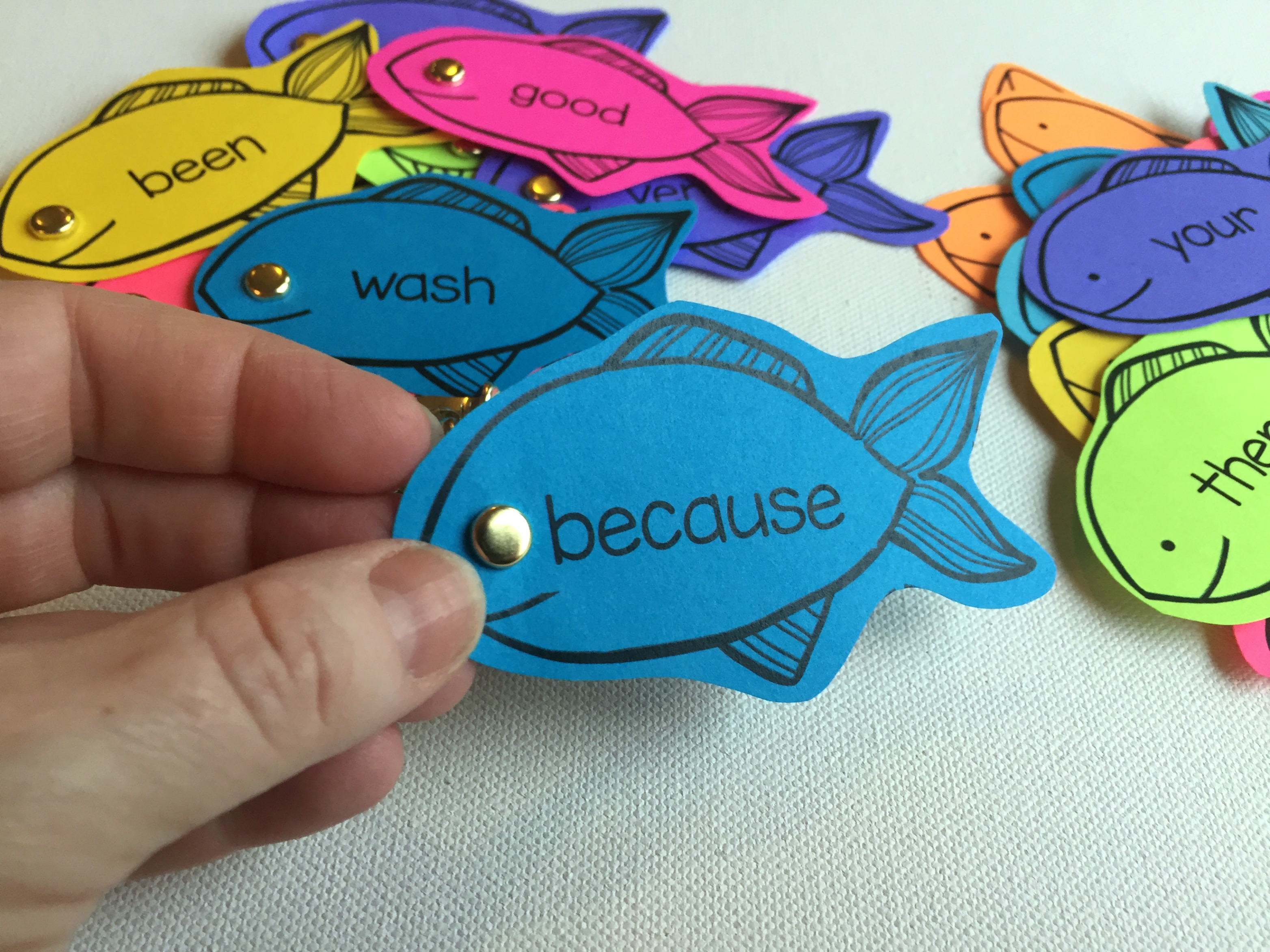 Colorize Your Classroom With Editable Sight Word Fishing Fun ...
