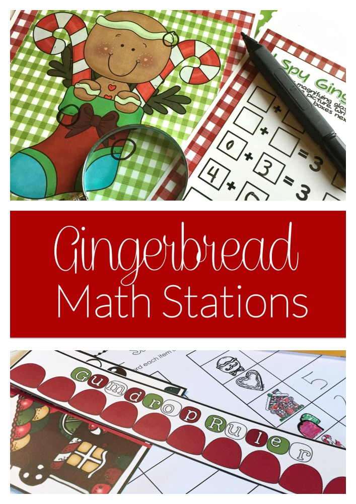 gingerbread math stations