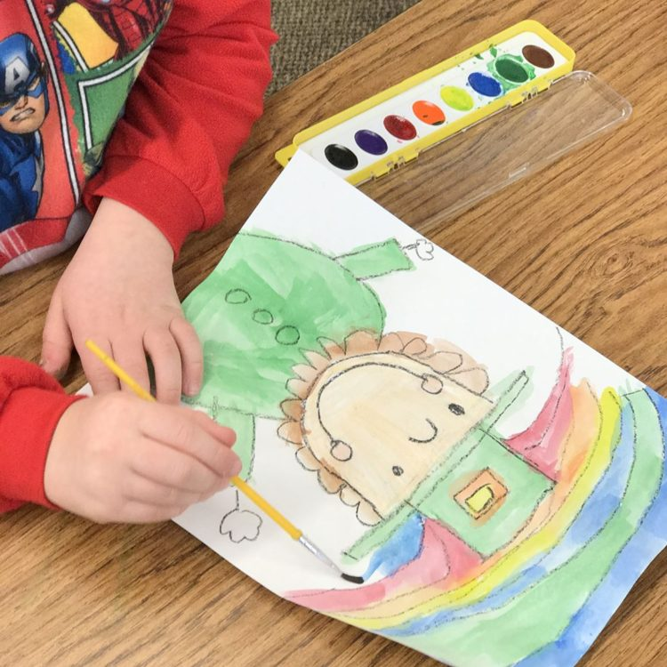 We love making leprechauns with firstandkinderblueskies Direct Drawing packets! kindergartenhellip