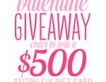 $500 Valentine Giveaway