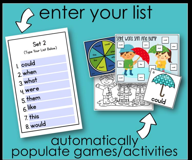 Sight Words Worksheets - Editable Word Work Practice | TpT