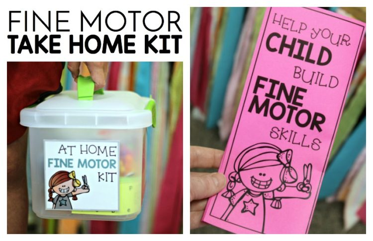 Fine Motor Take Home Kit Freebie. Supplement fine motor practice with a take home kit.