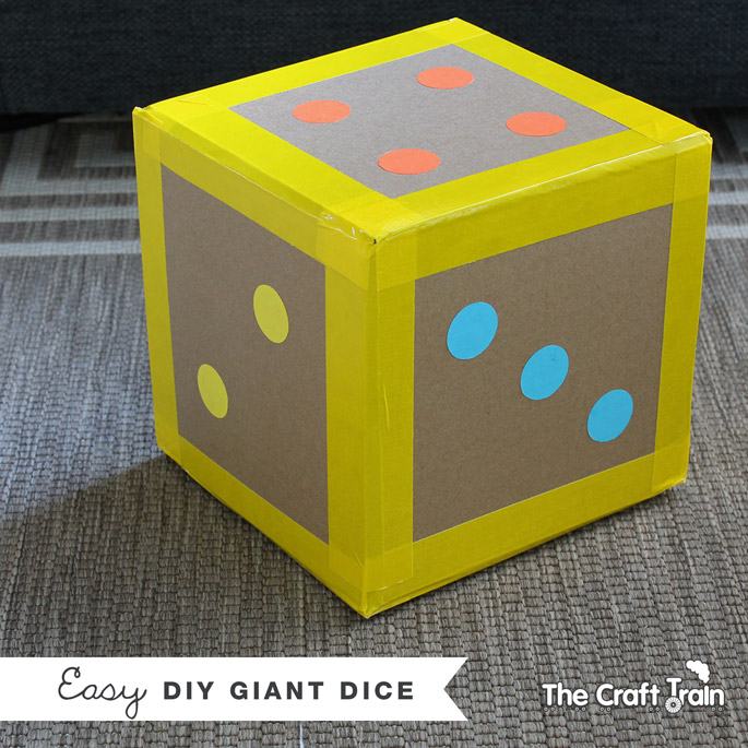 giant dice from The Craft Train