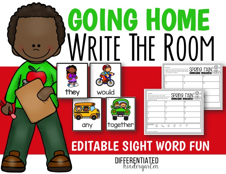 Editable Sight Word Write the Room appropriate for Literacy Center or Daily 5 Activities