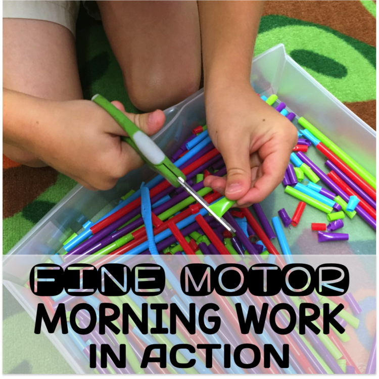 Fine Motor Work Stations In Action in Kindergarten