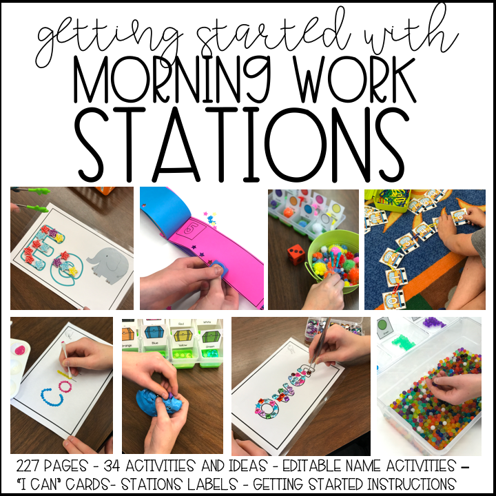 Getting Started With Fine Motor Morning Work Stations - Differentiated  Kindergarten
